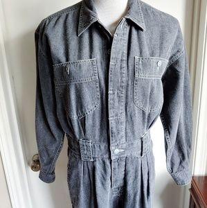 Vintage Pants - Vintage 90's Denim Jumpsuit Coverall Petite